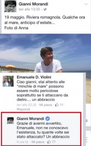 gianni morandi community manager