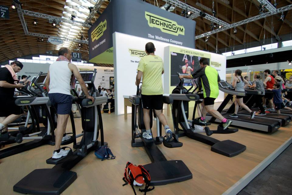Let's move for a better world, l'iniziativa Technogym a Rimini Wellness 2015